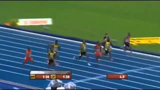 Усейн Болт чемпион мира в Москве на 100 м 9.77