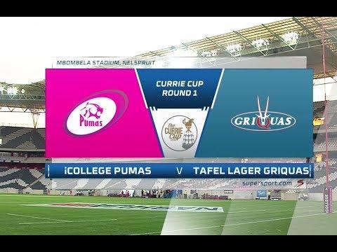 Currie Cup 2018 | iCollege Pumas vs Tafel Lager Griquas ...