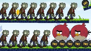 Angry Birds Fry Zombies - TERENCE KICK ALL TNT TO BURN ZOMBIES ALL LEVELS!