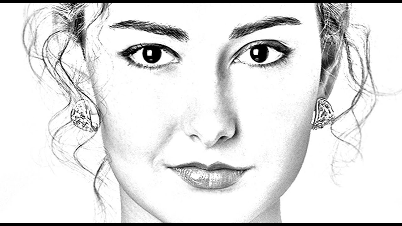 Photoshop Tutorial How To Transform PHOTOS Into Gorgeous Pencil DRAWINGS - YouTube