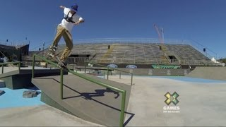 GoPro: Ryan Sheckler Skateboard Street Course Preview - Summer X Games 2013 Foz Do Iguacu