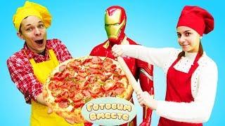 Пицца для Железного человека. Кулинарный баттл блогеров Капуки Кануки - Видео для детей