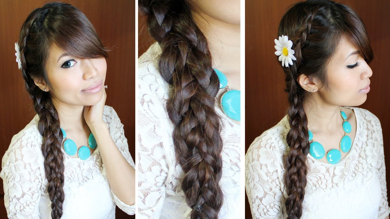 Long Hairstyles: Dutch Multi-Braid Hairstyle For Medium Long Hair Tutorial