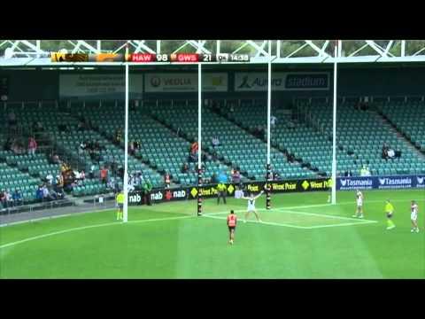 Israel Folau kicks first AFL goal - YouTube