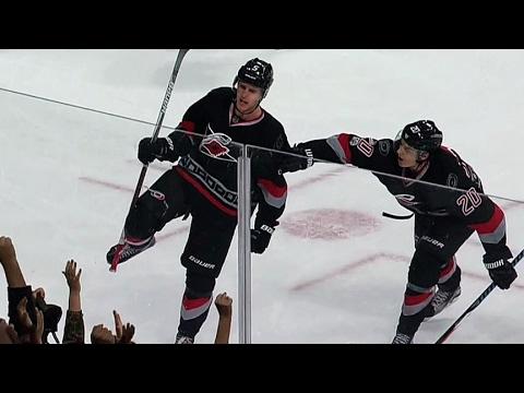 Skinner spins, Hanifin drills home OT goal