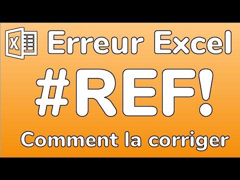 Excel: Comment corriger l'erreur #REF! – Docteur Excel