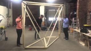Aufbau OrigamiFalthaus