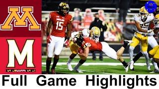 Minnesota Vs Maryland Highlights (F/OT)   College Football Week 9   2020 College Football Highlights