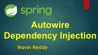Spring | Autowire | Dependency Injection | Spring Boot