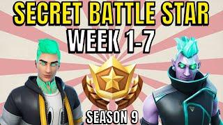 ALL Fortnite season 9 Secret Battle Star Locations week 1 to 7 - Season 9