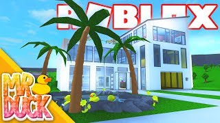 Roblox Bloxburg - 220K Modern Mansion Speed-build!