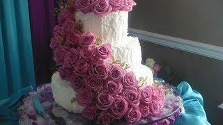 Простой и вкусный крем для украшения свадебных тортов-который не течет(goodcook)(свадебный торт испечь и украсить в домашних условиях не сложно если под рукой хороший крем Рецепт крема:..., 2014-06-17T04:18:17.000Z)