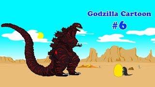 Godzilla, Shin Godzilla, Dinosaur - GIANT EGG - Funny #6 | Godzilla Cartoons For Children