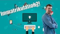 Immatrikulation 🎓  richtig bewerben fürs Studium 🕶  einschreiben an der Uni StudentenTipps