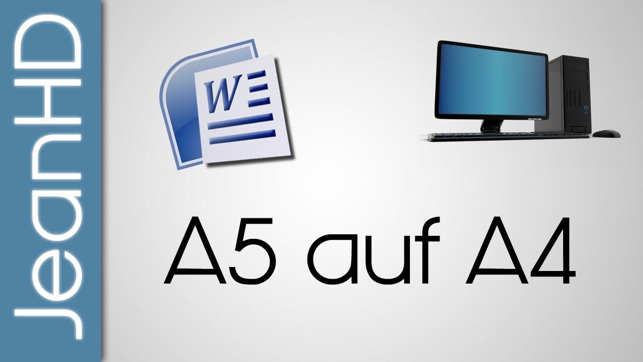 Zwei A5 Seiten auf eine A4 Seite drucken - Microsoft Word - PC Tipps ...