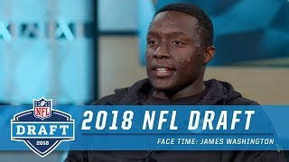 James Washington On Getting the Call from Steelers Head Coach Mike Tomlin on Draft Day  Face Time