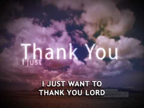 Thank You Lord Don Moen Youtube