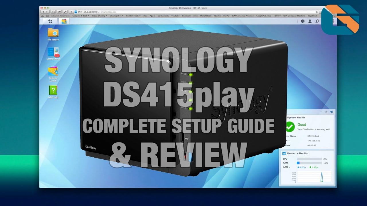 Synology DS415play NAS Complete Setup Guide & Review @synology