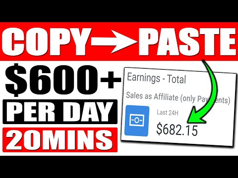 Copy & Paste To Make $$600+ With a SIMPLE Digistore24 Tutorial (Make Money Online)