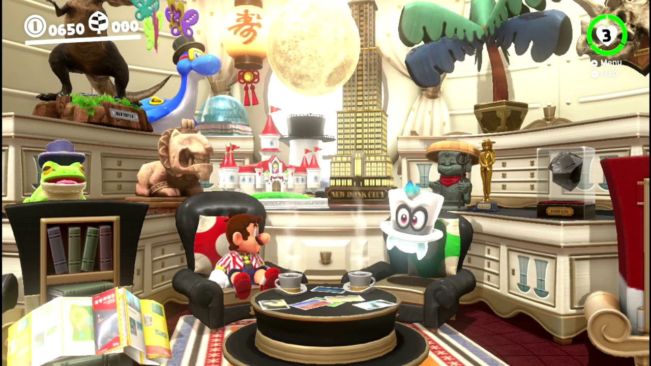 Super Mario Odyssey Idle Animations Inside The Odyssey Youtube