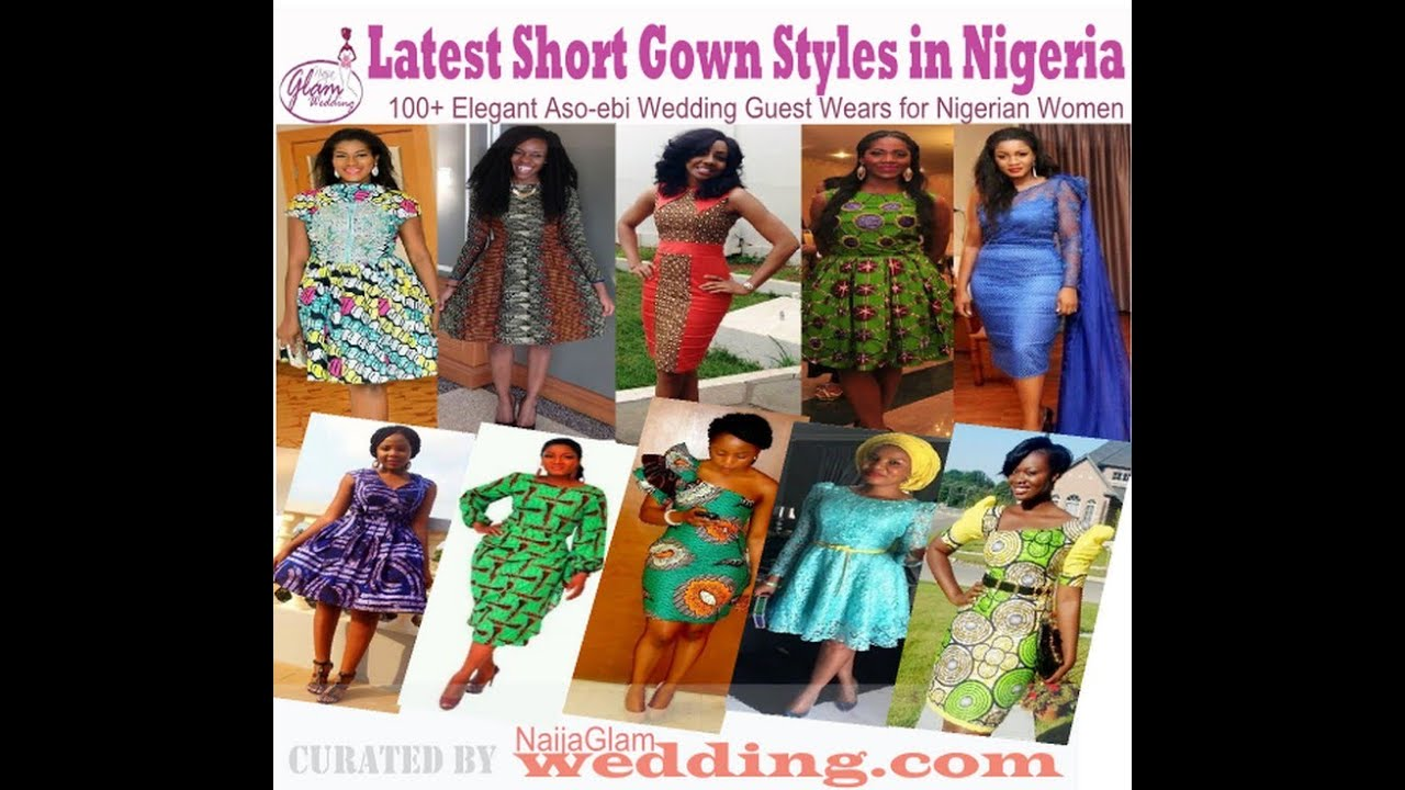Latest Short Gown Styles African Nigerian Outfits For