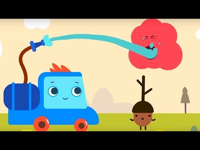 Развивающий мультфильм - Грузовичок Пик - Летучая мышка + Маленький жёлудь   - про машинки