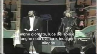 Jon Bon Jovi & Luciano Pavarotti - Let It Rain con sottotitoli in italiano