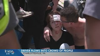 Vehicle plows into counter-protesters at white nationalist rally in Charlottesville, Virginia