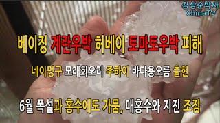 코로나우박폭탄 베이징 계란우박 허베이 토마토우박, 내몽…