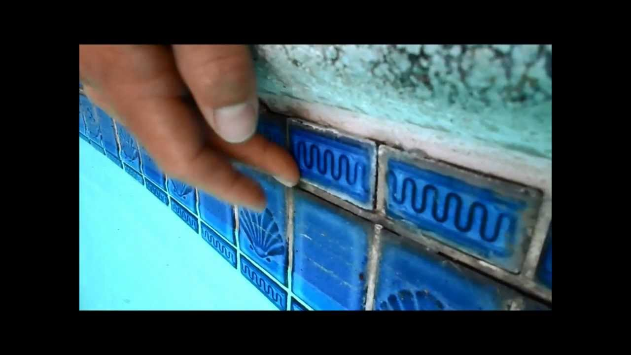 Temporary pool tile repair,a quick fix