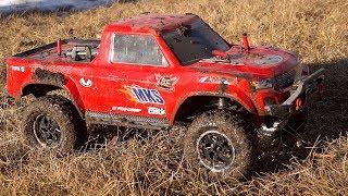 "New Driver Moe Goes ""Pro"" Mode - A Little Mud Power: Traxxas Trx4 Sport Trail Truck"