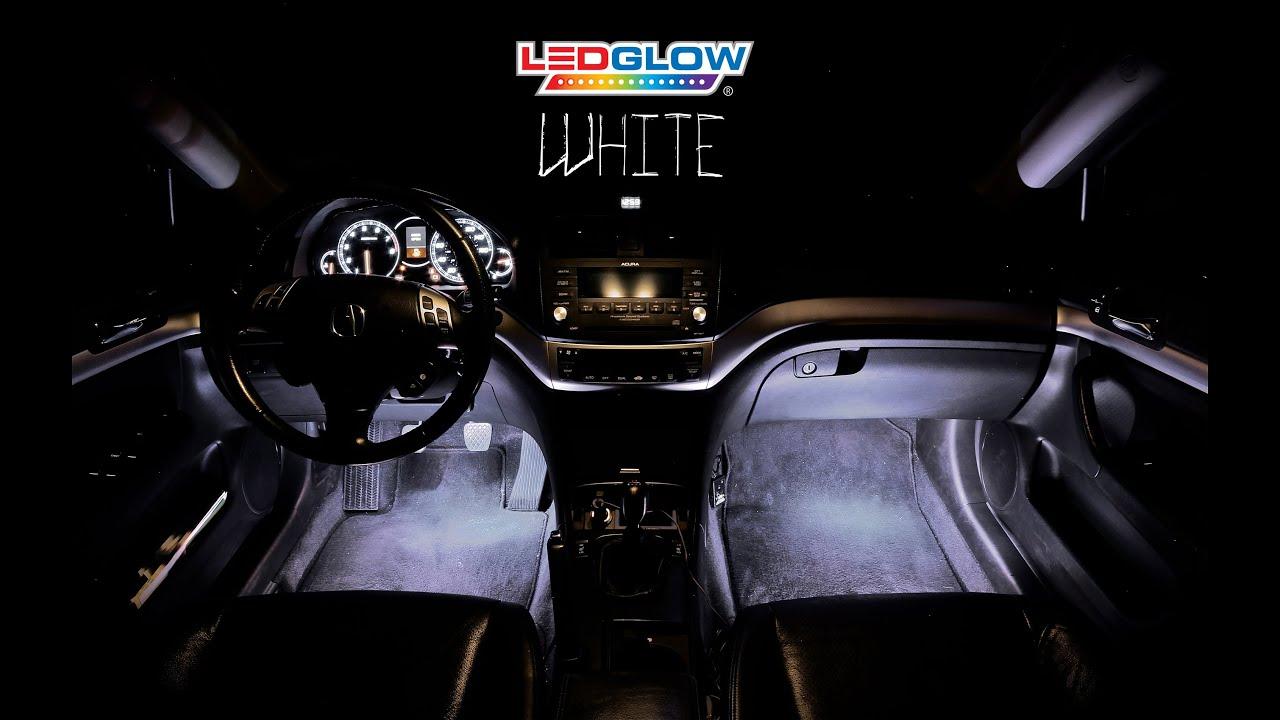 LEDGlow\'s 4pc White LED Interior Kit - YouTube