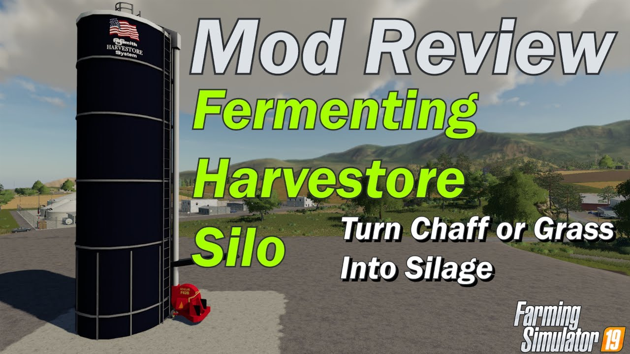 Mod Review - Harvestore Fermenting Silo - Grass or Chaff into Silage