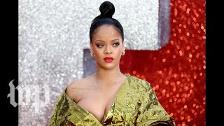 Rihanna calls on trump to stop playing her music at his 'tragic rallies'