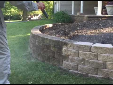 Retaining Wall Cleaning Youtube