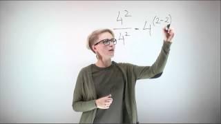 Математика - Возведение в степень