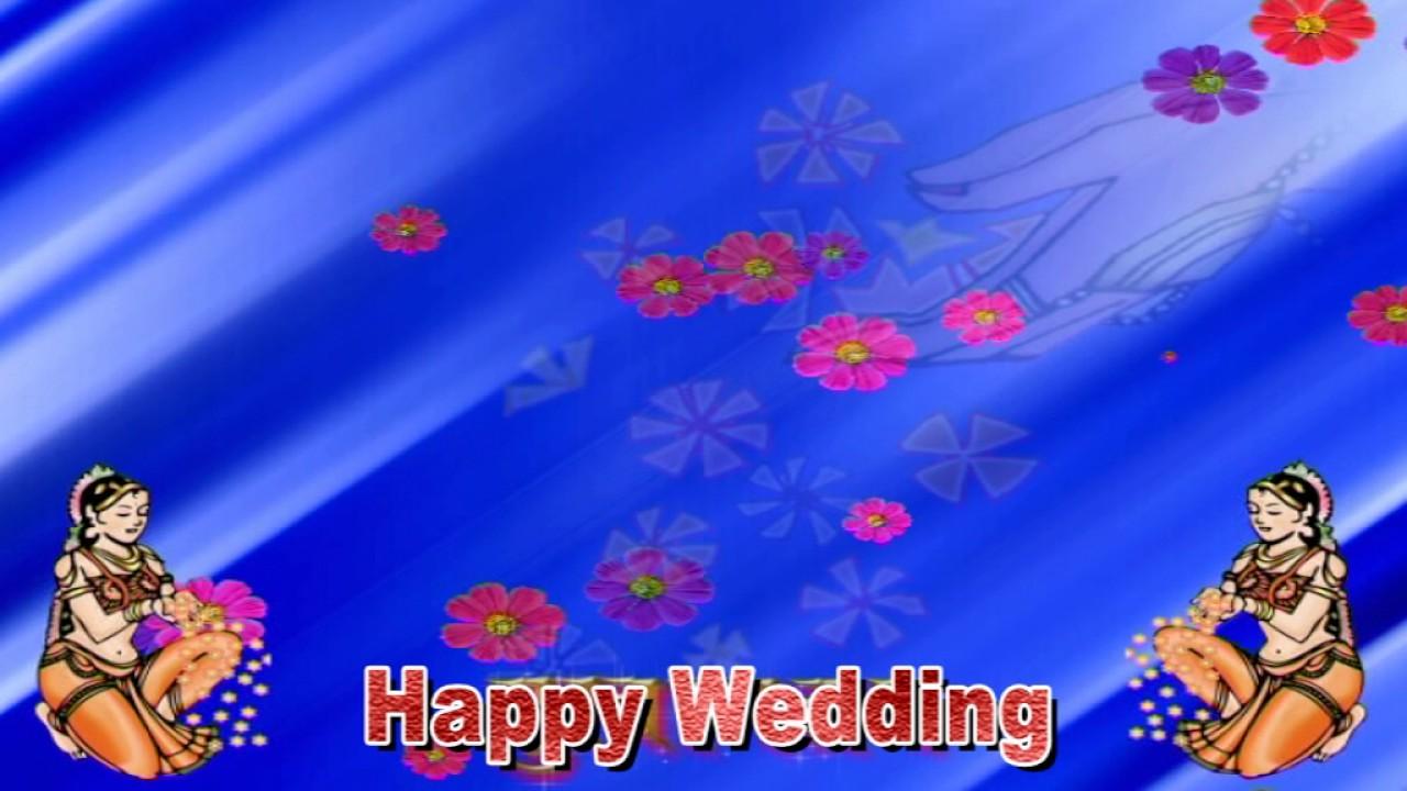 Happy Wedding Video Background , wedding Background, Running Background HD 4K  1080P 1