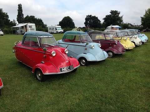 "Messerschmitt ""bubble"" car rally"