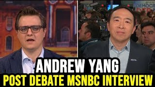 Andrew Yang Post NH Debate MSNBC Interview w/ Chris Hayes
