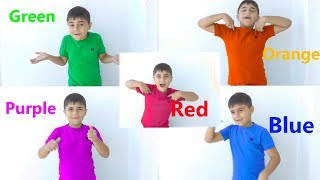 Learn 👕 T'shirt 👕 Colors With Guka and Finger Family Educational Good song For kids