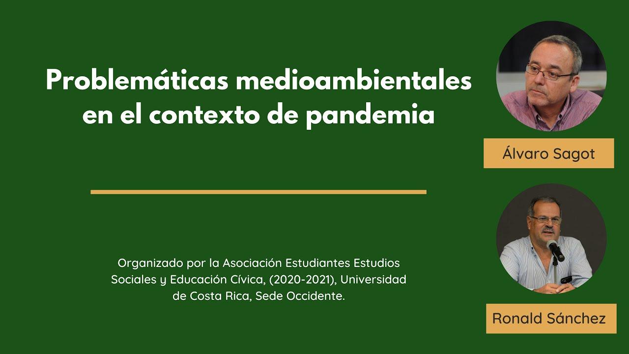 Problemáticas medioambientales en el contexto de pandemia
