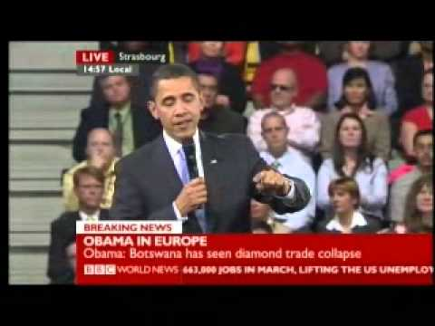 Obama in Europe Meets the People 4 of 5 - BBC World News Report