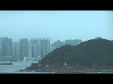 Voyager of the Seas Cruise Ship entering Hong Kong