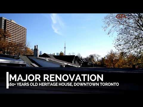 Renovation of Heritage Houses in Downtown Toronto. Mid-construction