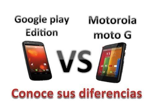 Moto G Google Play Edition VS Motorola moto G - Conoce sus Diferencias