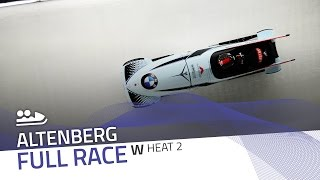 Altenberg | BMW IBSF World Cup 2016/2017 - Women's Bobsleigh Heat 2 | IBSF Official