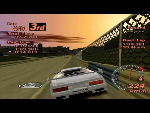 Gran Turismo 2 - Red Rock Valley Speedway - Vector M12 LM Edition - EPSXe 1.8.0