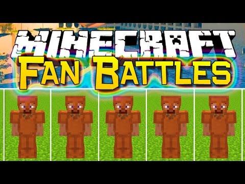 Minecraft: YouTubers vs Fans Challenge Battles - Epic Hotel War - 50vs3! (Mini-Games Custom)