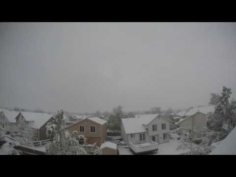 Denver Colorado Snow Storm Timelapse 4/28/17 - 5/1/17