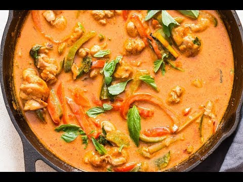 Thai Panang Curry Recipe With Chicken (using store bought curry paste)